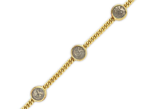 An Ancient Coin And Gold Bracelet, By Bulgari, Circa 1985