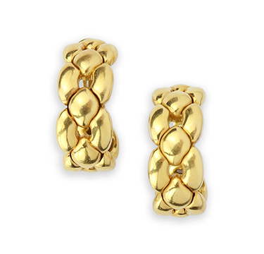A Pair of Gold Hoop Earrings, by Cartier, circa 1990