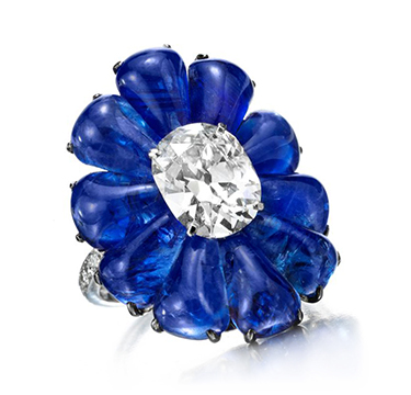 A Sapphire and Diamond Ring, by BHAGAT