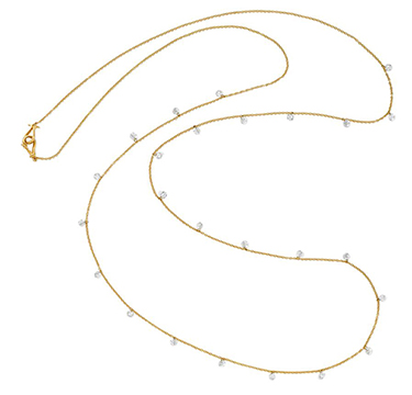 A Gold and Diamond Long Necklace