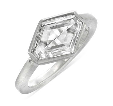 A Hexagonal-cut Diamond Ring, Of 3.00 Carats