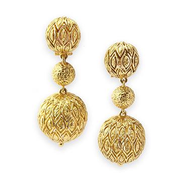 A Pair of Gold Ball Ear Pendants, by Van Cleef & Arpels, circa 1960