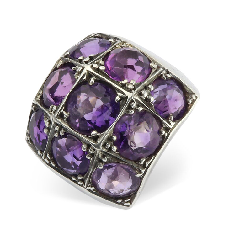An Amethyst and Silver Ring, by Rene Boivin, circa 1935