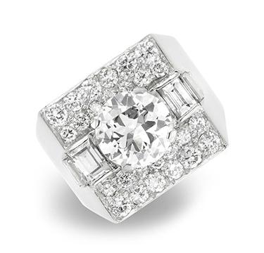 A Diamond 'Trombino' Ring, by Bulgari, circa 1950