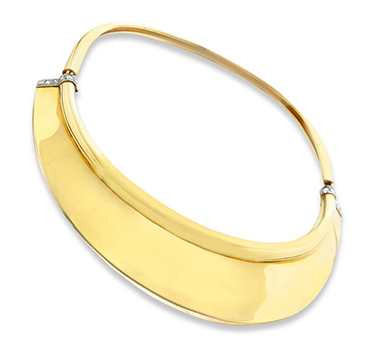 A Gold and Diamond Collar Necklace, by Suzanne Belperron, circa 1940