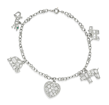 A Diamond Charm Bracelet