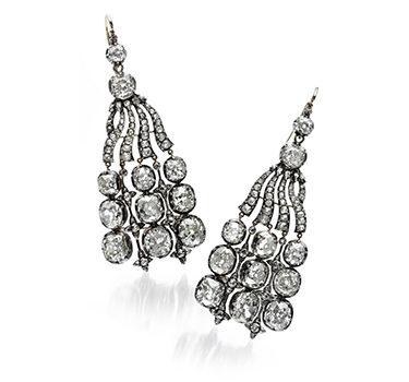 A Pair Of Important Late 18th Century Diamond Ear Pendants, Circa 1780