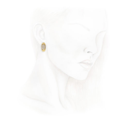 Bulgari Diamond and Gold Ear Clips