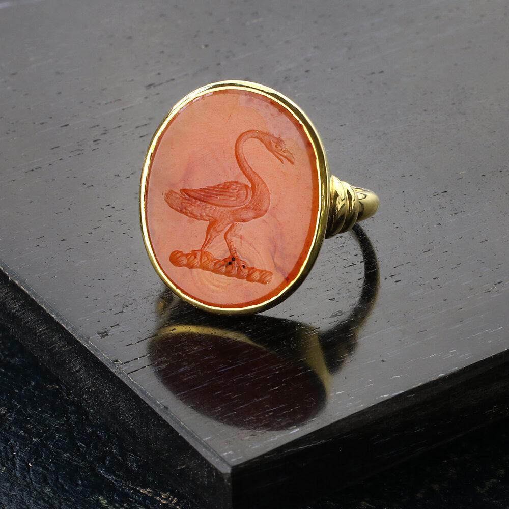 Antique Carnelian Intaglio Ring