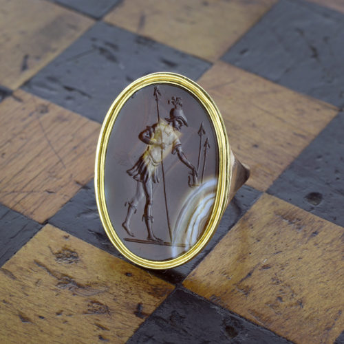 Antique Agate Cameo Ring