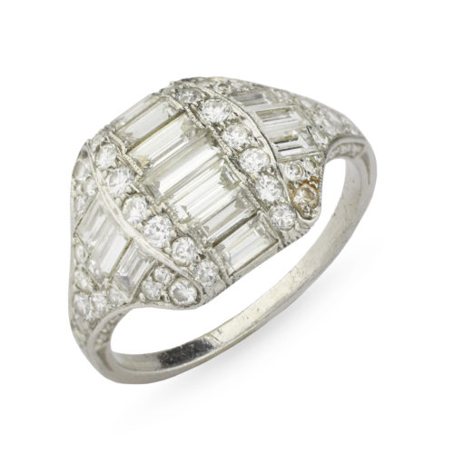 Tiffany & Co. Art Deco Diamond Ring