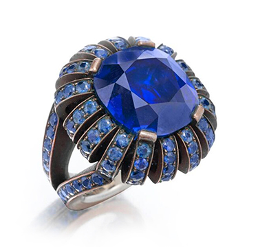 A Ceylon Sapphire Ring, by Hemmerle