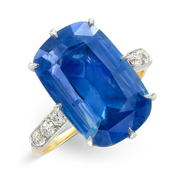 An Early 20th Century Sapphire and Diamond Ring, by Tiffany & Co.