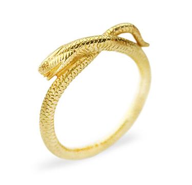 An Antique Gold Serpent Ring