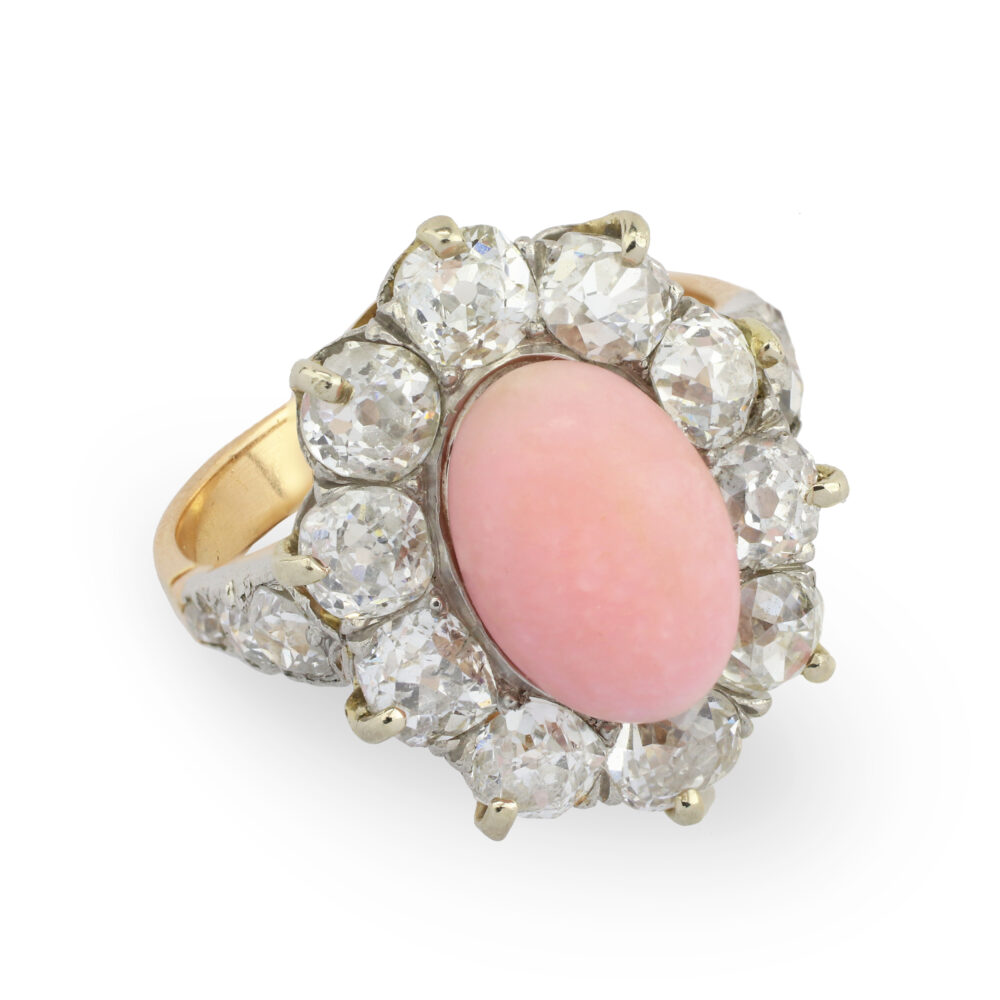 Conch Pearl and Diamond Ring
