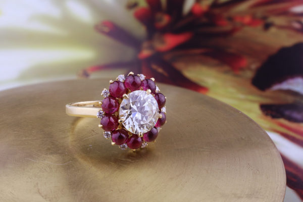 Bulgari Diamond And Ruby Ring