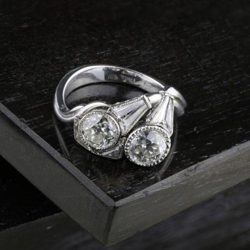 Kutchinsky Diamond Crossover Ring