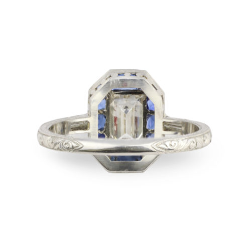 An Art Deco Diamond and Sapphire Ring