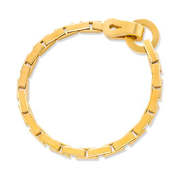 A Gold Link Bracelet, by Cartier