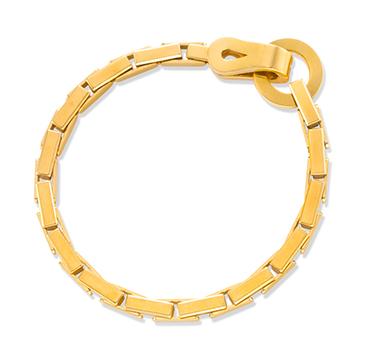 A Gold Link Bracelet, by Cartier