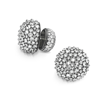 A Pair of Reverse-set Diamond Ear Clips, by Hemmerle