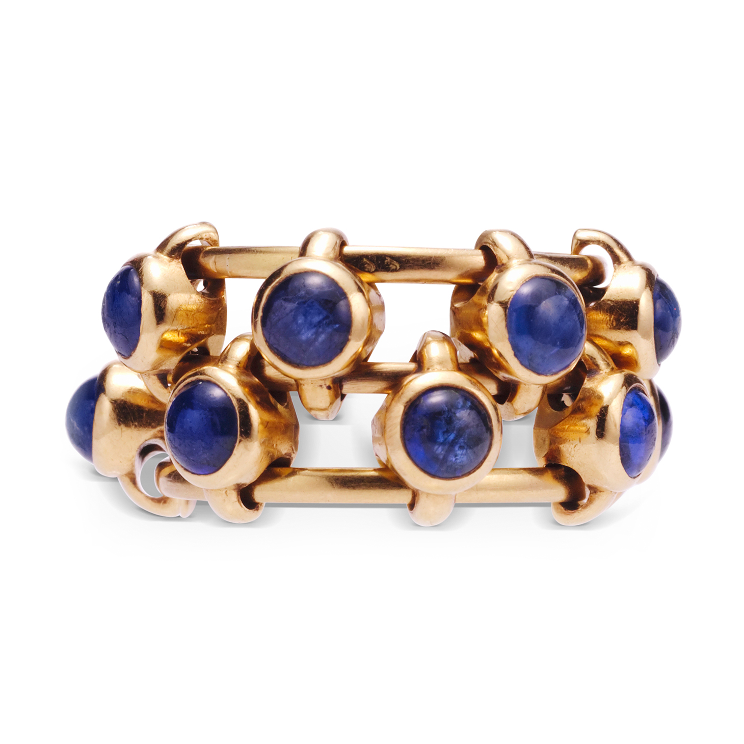 A Sapphire and Gold 'Abacus' Ring, by JAR