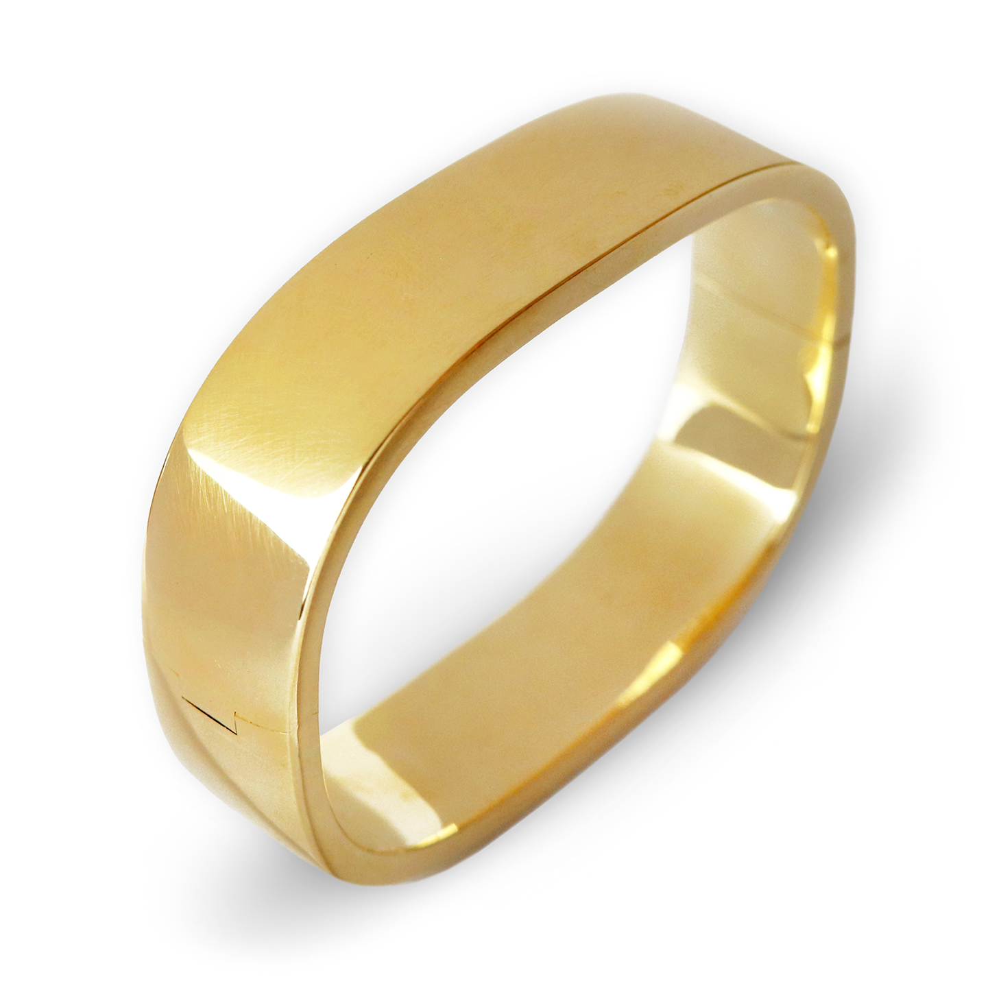 A Gold Hinged Cuff Bracelet, circa 1960