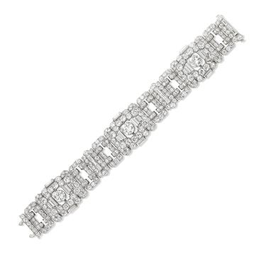 An Art Deco Diamond Bracelet, by Bulgari, circa 1925
