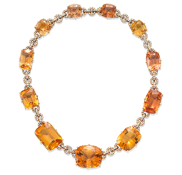 An Important Topaz and Diamond Necklace, by JAR