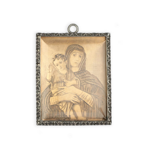 Buccellati Copper Etching and Silver Frame