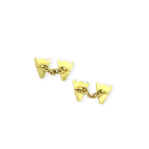 A Pair of Gold Novelty cufflinks