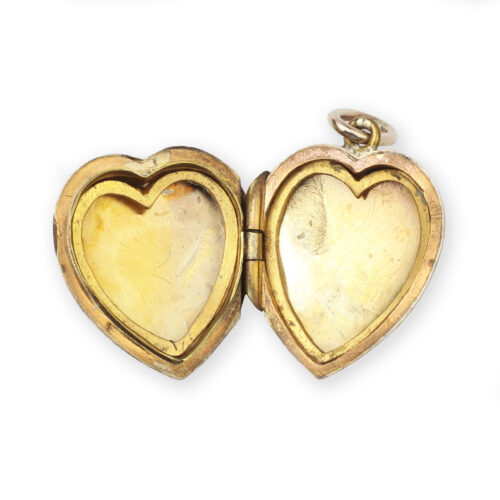 Antique Gold Heart Shaped Pendant