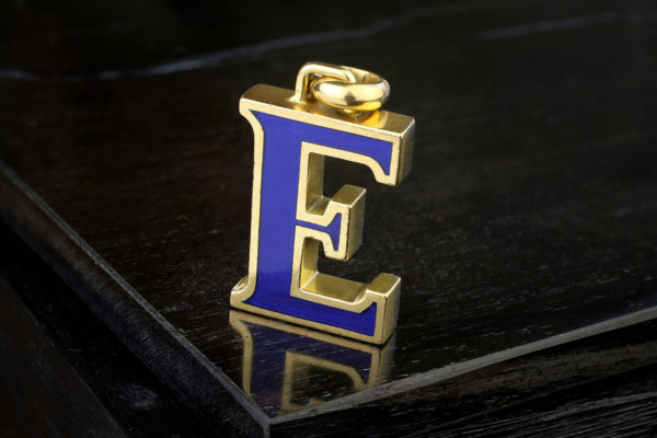 Gucci Enamel And Gold 'E' Pendant