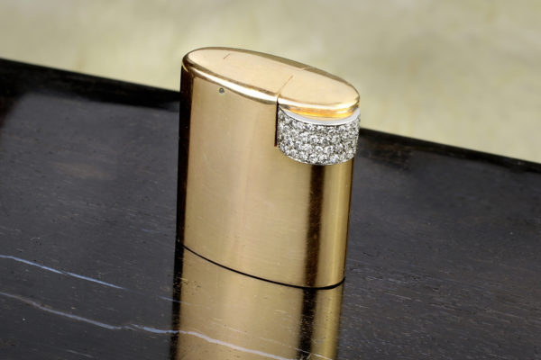Cartier Gold And Diamond Lighter