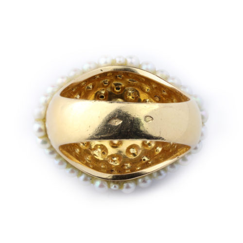 Renee Boivin Pearl and Gold Ring