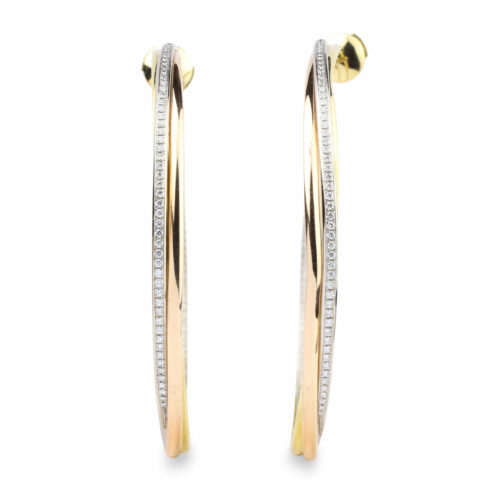 Cartier 'Trinity' Hoop Earrings