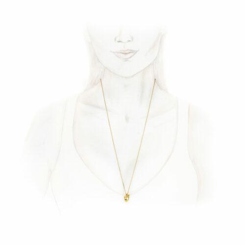 JAR Sculpted Gold Acorn Pendant Necklace