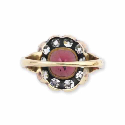 Antique Garnet and Diamond Ring