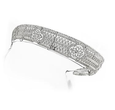 A Diamond Clover Tiara, by Cartier