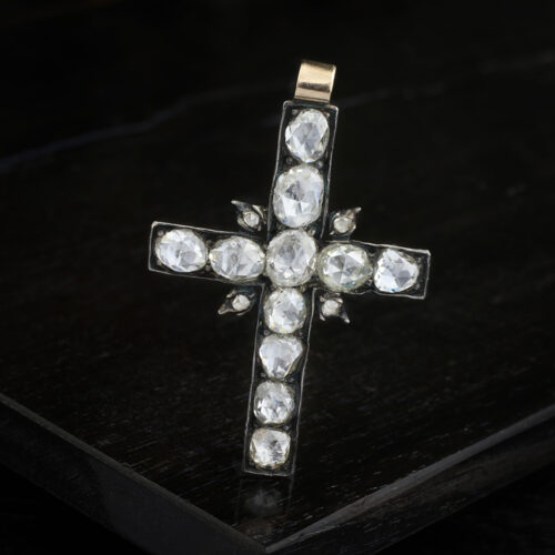 Georgian Diamond Cross Pendant