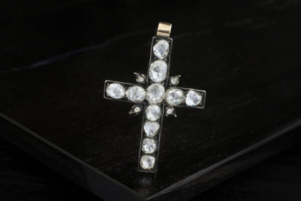 Georgian Diamond Cross Pendant