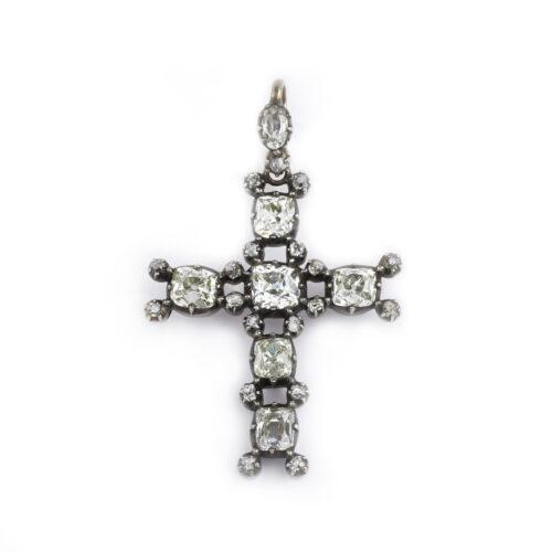 Antique Diamond Set Cross Pendant