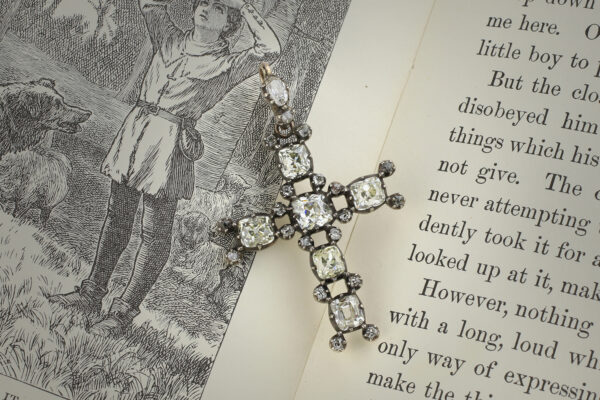 Antique Diamond Set Cross Pendant