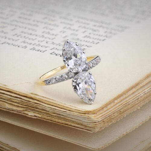 Antique Platinum, Gold and Diamond Ring