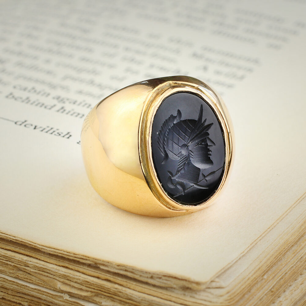 Onyx Intaglio Ring