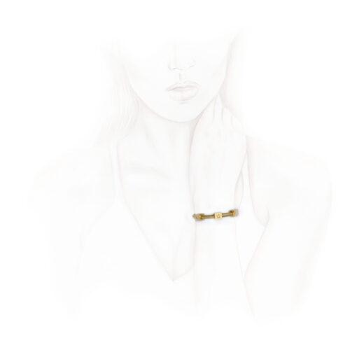 Retro Gold and Diamond Bracelet by Mellerio