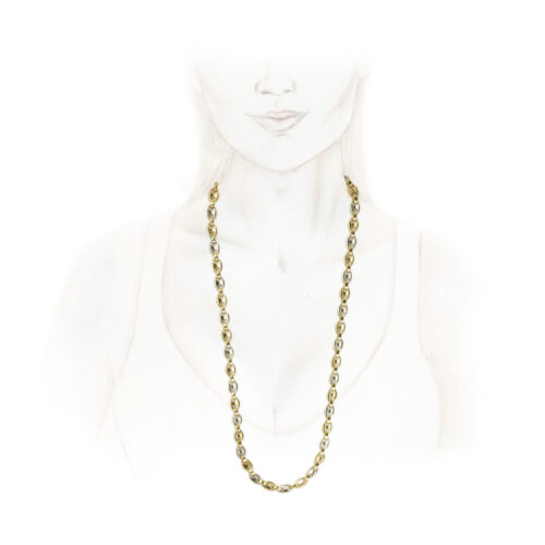 Cartier Bi-Colored Gold Chain Necklace