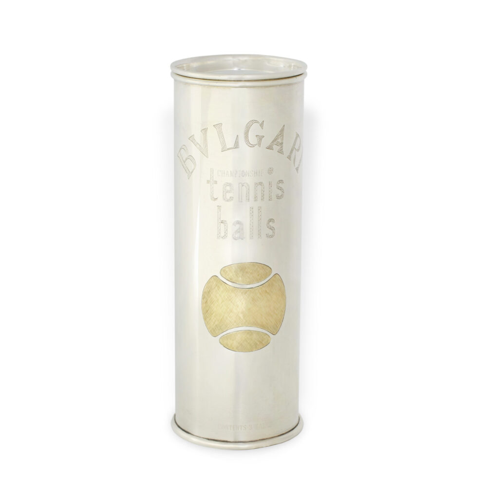 Bulgari Sterling Silver Tennis Ball Canister