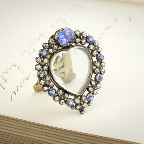Antique Diamond and Sapphire Set Frame