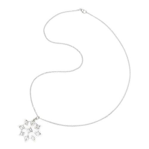 Platinum and Diamond Pendant Necklace
